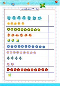 count and write number worksheet,