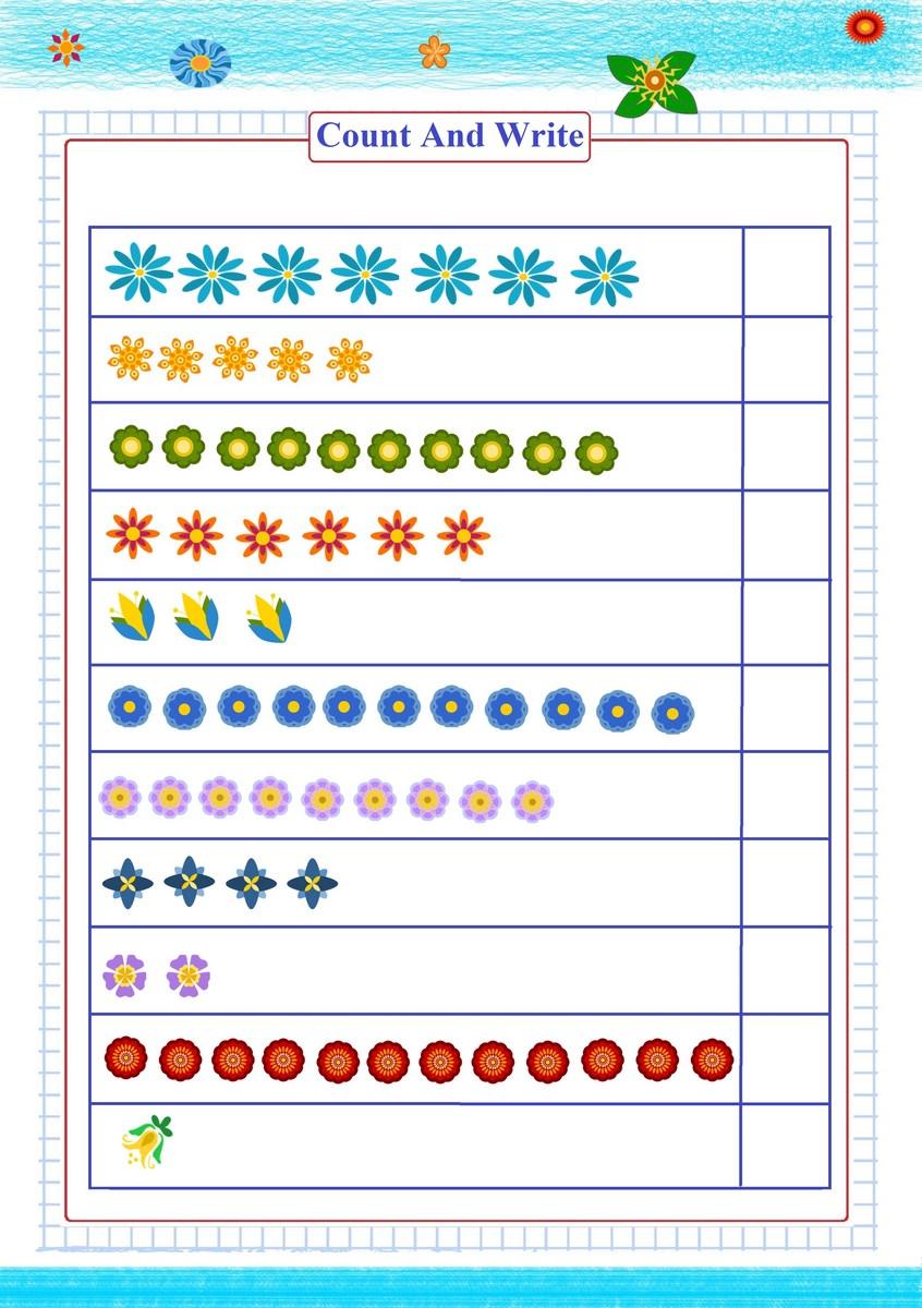 count write number worksheet | Free Math Worksheets