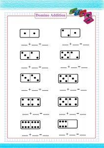domino addition worksheet,  pratica aggiuntiva di domino,  pratique d'addition de domino,  práctica de adición de dominó,  Domino-Ergänzungspraxis,  Доминирование,
