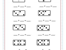 domino addition free worksheets  free math worksheets domino addition