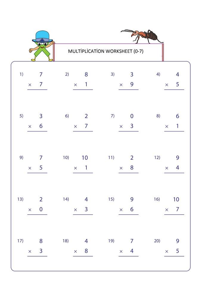 Second Grade Multiplication Worksheets - Free Math Worksheets