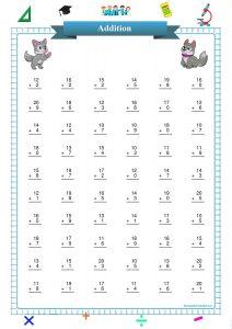 single digit addition worksheet pdf,