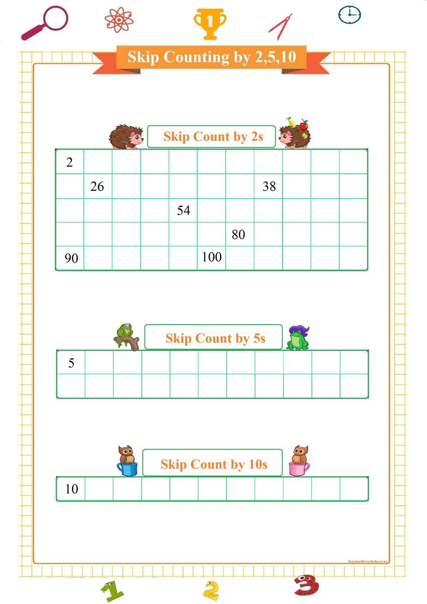 Skip Count: 2,5,10 | Free Math Worksheets