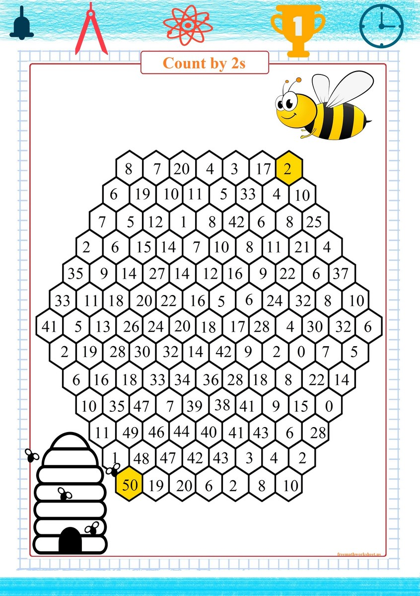 skip counting by 2s worksheet - Free Math Worksheets