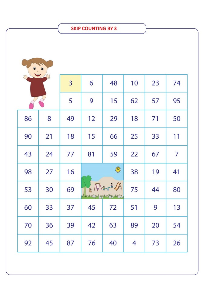 skip counting by 3 for 2nd grade (2) - Free Math Worksheets