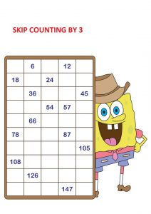 skip counting by 3s worksheet pdf,