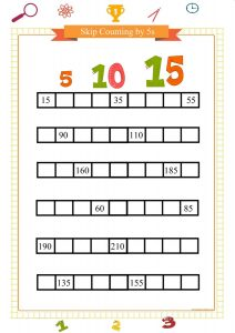 skip counting by 5s worksheet pdf
