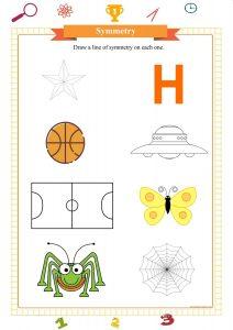 symmetry worksheet printable pdf free, симметрия, práctica de simetría, pratica di simmetria, ممارسة التماثل,