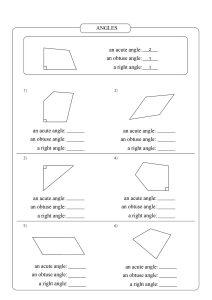 types of angles worksheet, an obtuse angle worksheet,