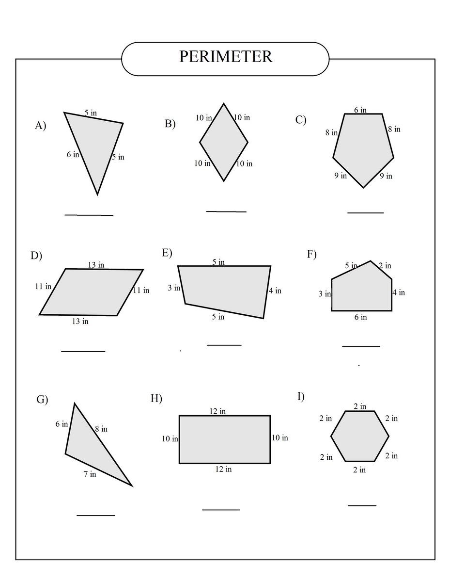 Area and perimeter of polygons worksheet pdf