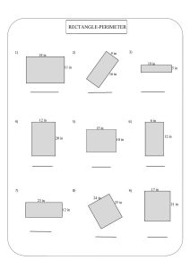 perimeter worksheet, perimeter of rectangle worksheet , периметр прямоугольника, perímetro de rectángulo,  périmètre du rectangle