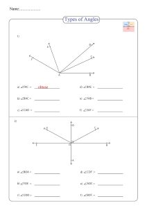 acute angle worksheet, types of angles worksheet , ejercicio de ángulo , exercice d'angle ,