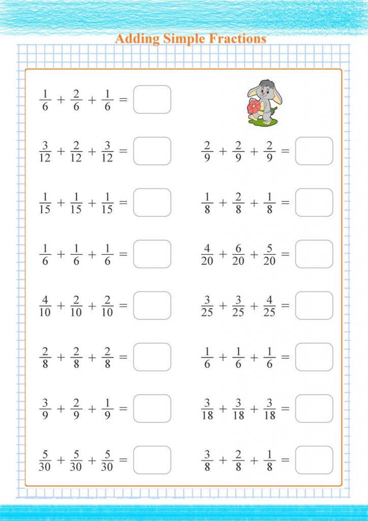 adding fractions worksheets,