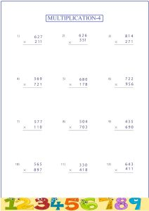 multiplication worksheet, feuille de travail de multiplication ,  лист умножения , multiplicación ,