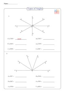 types of angle worksheet , exercice d'angle , ejercicio de ángulo ,
