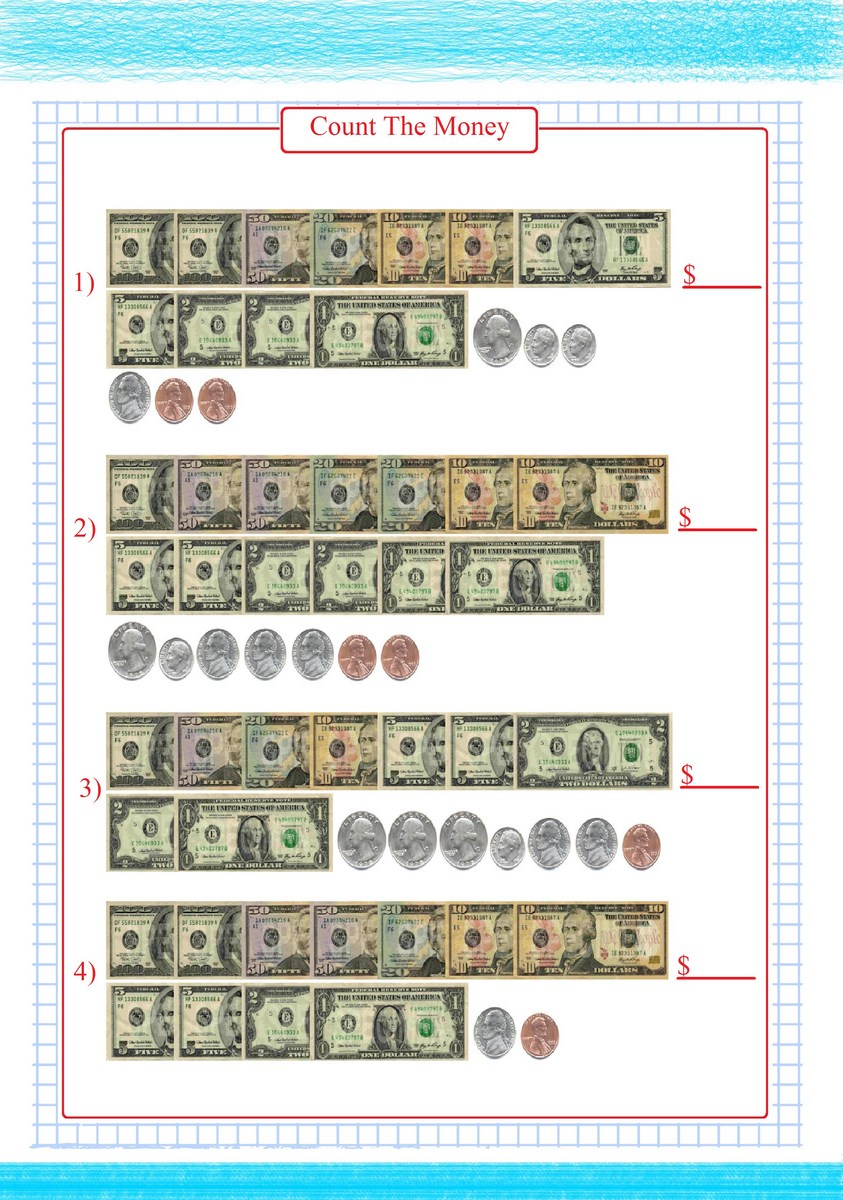 Bill And Coin Worksheet PDF | Free Math Worksheets