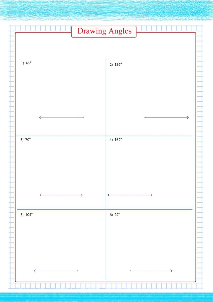 worksheet Drawing Angles Worksheet drawing angles worksheet 2 free math worksheets 2