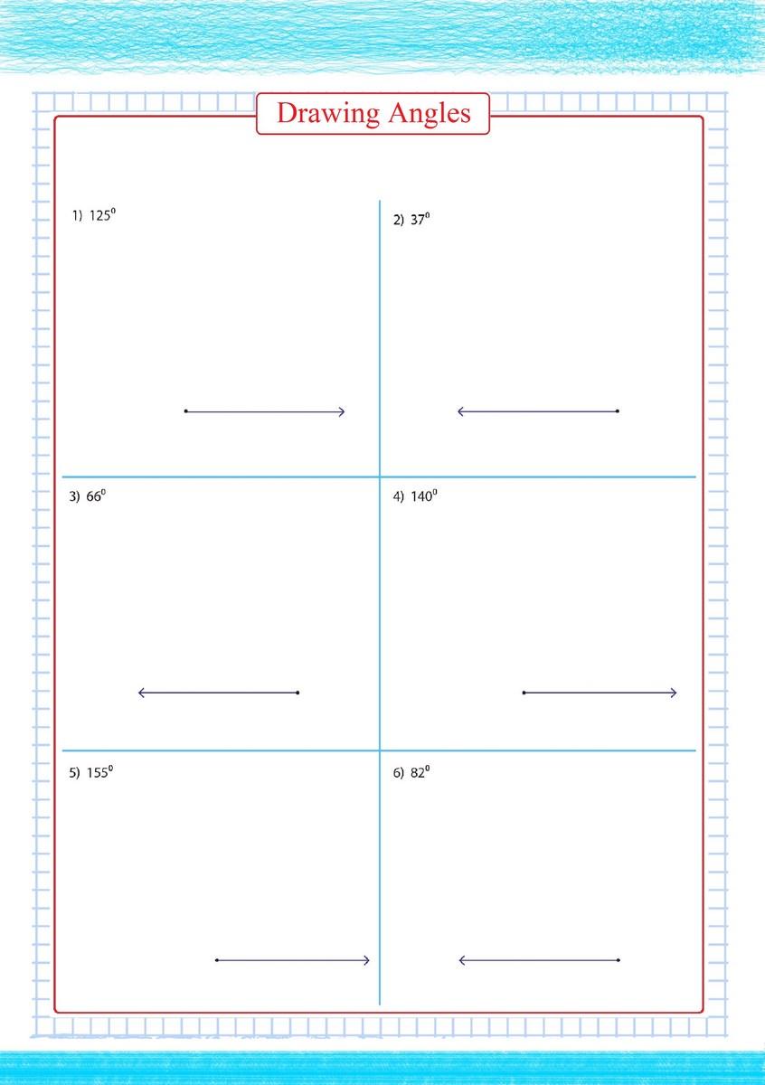 worksheet Drawing Angles Worksheet drawing angles worksheet 3 free math worksheets 3