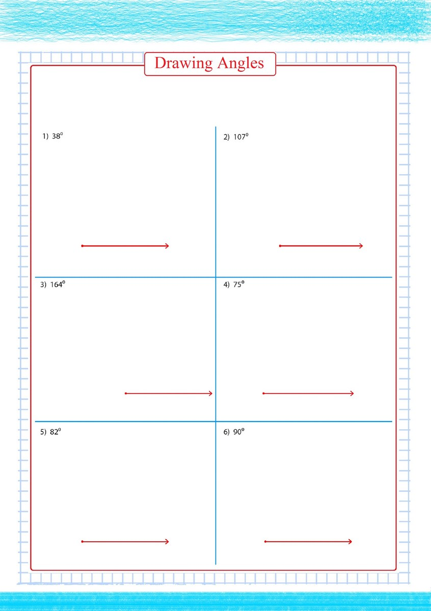 Drawing Angles Worksheets Pdf Free Math Worksheets