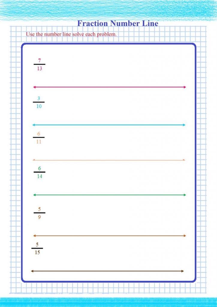 fractions on a number line worksheet pdf,