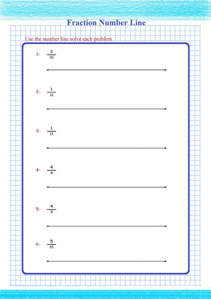 fractions number line worksheet pdf,