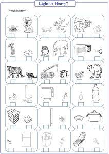 Heavy Or Light Worksheet Free Math Worksheets