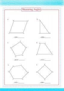 measuring angles worksheets
