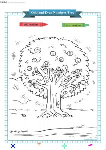 odd and even numbers tree worksheet pdf,