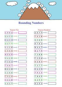 rounding numbers worksheet