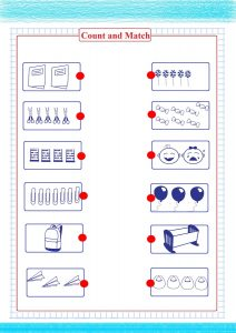 count and match number worksheet