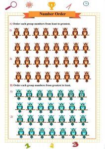 number order worksheet,