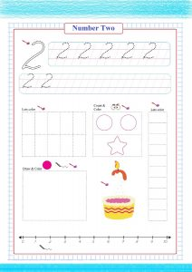 number two worksheet pdf, number printable worksheet,