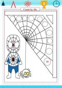 skip counting by 10s worksheet, coloring page, coloring spiderman,