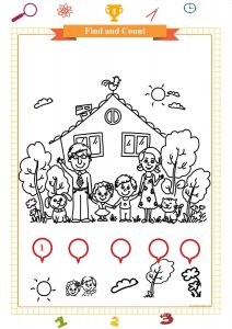 count and color worksheet for preschool pdf