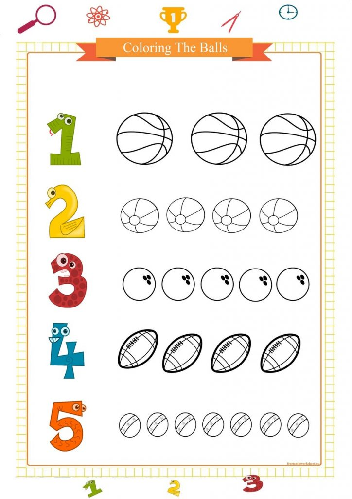 counting worksheet for preschool