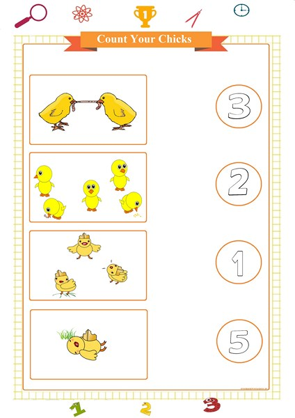counting and matching numbers worksheet printable pdf,