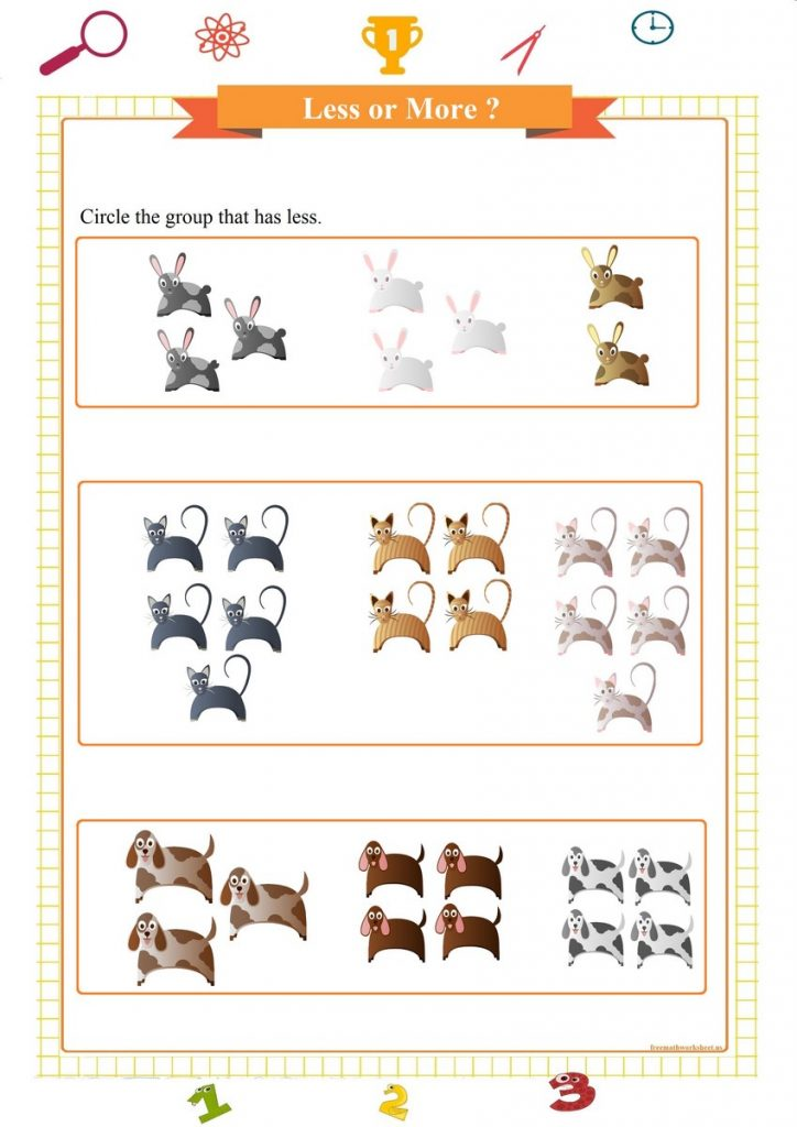 less or more worksheet for preschool printable pdf, меньше или больше листа, ورقة عمل أقل أو أكثر, meno o più fogli di lavoro, menos o más hoja de trabajo, weniger oder mehr Arbeitsblatt,
