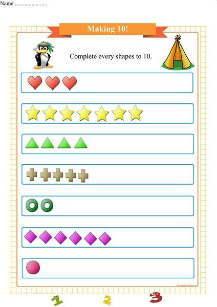 making 10 worksheet for preschool pdf
