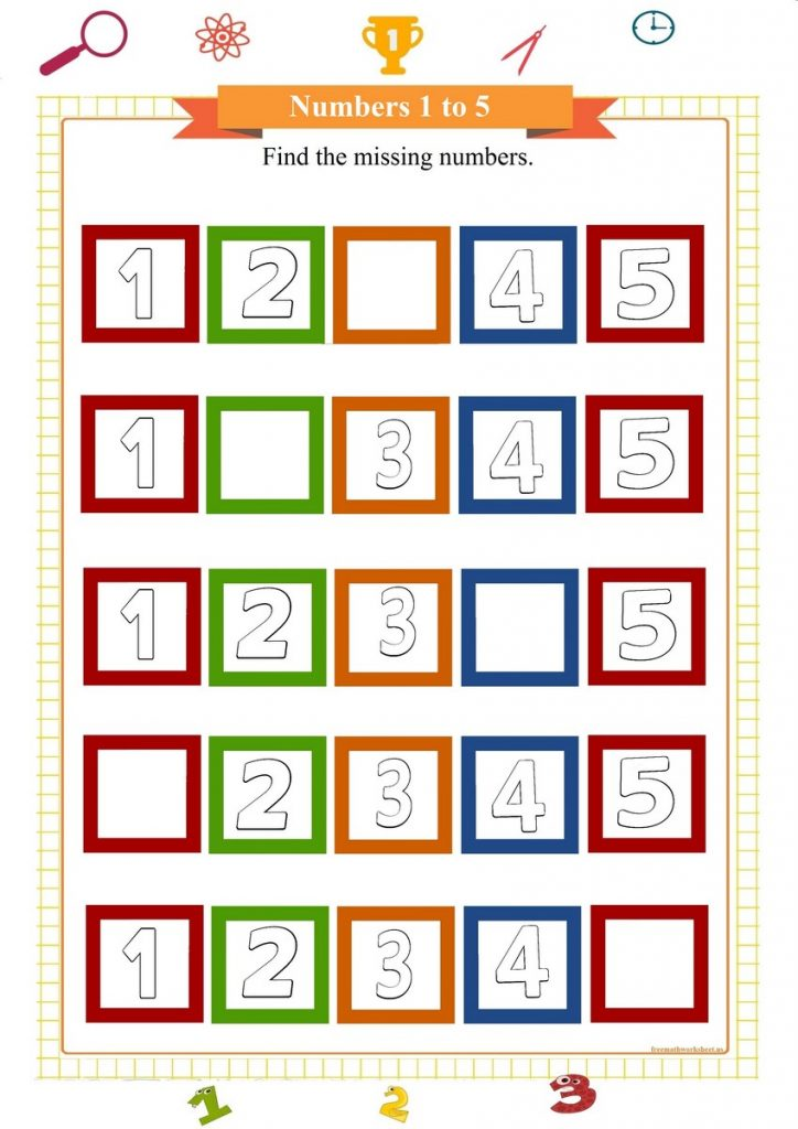 number worksheet for preschool,