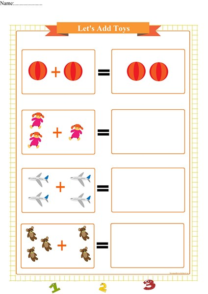 single addition worksheet printable pdf,