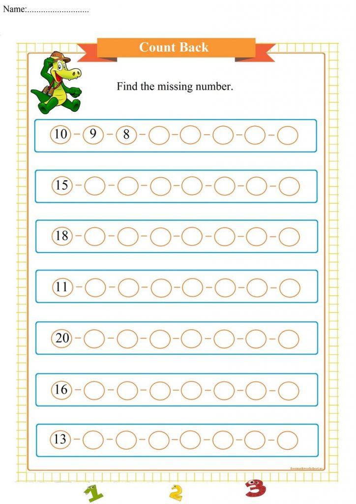 count back worksheet pdf,