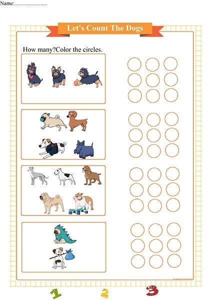 counting worksheet 1-5,