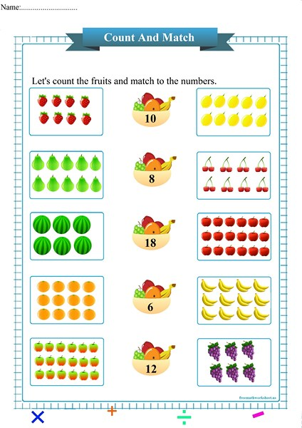 counting and matching worksheet pdf,