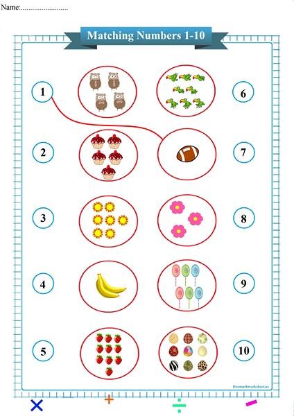 matching numbers worksheet pdf,