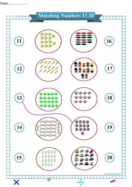 matching numbers worksheet,