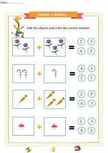 simple addition worksheet pdf,