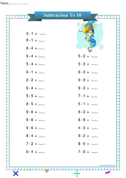 subtraction worksheet pdf,