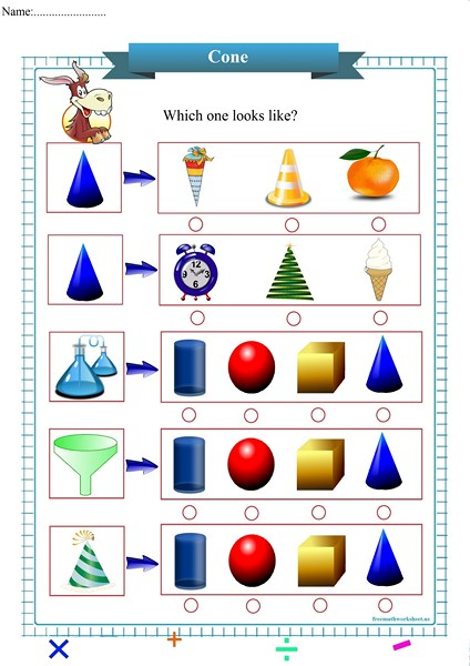 cone worksheet pdf,