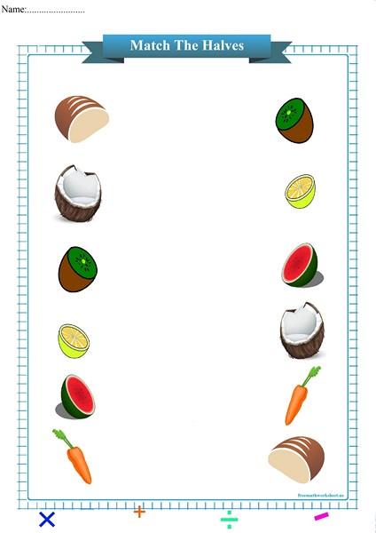 match the halves worksheet pdf,