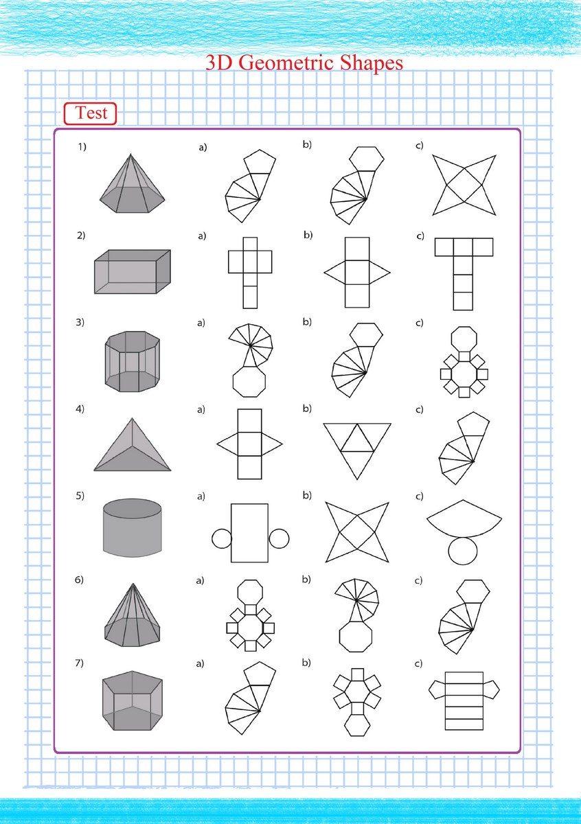 3d geometric shapes pdf free math worksheets. Black Bedroom Furniture Sets. Home Design Ideas